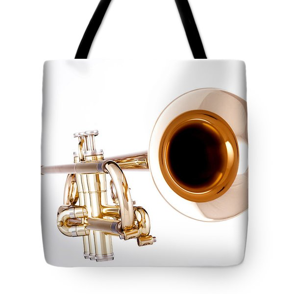 Complete Trumpet Bell Front In Color Isolated 3018.02 Tote Bag