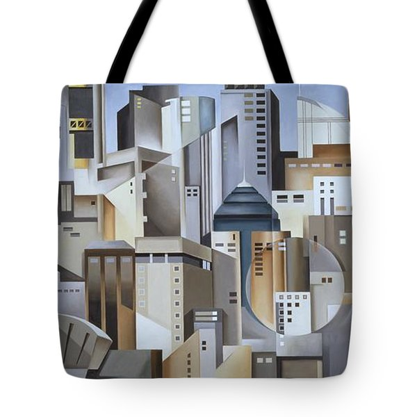 Composition Looking East Tote Bag