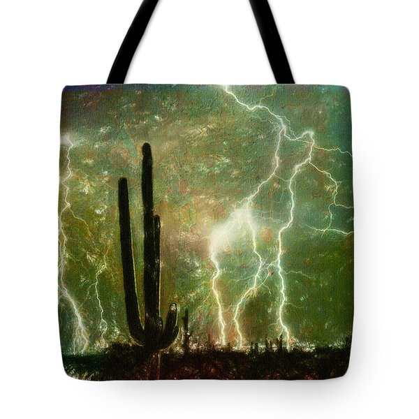 Computer Generated Image Of Lightening Tote Bag