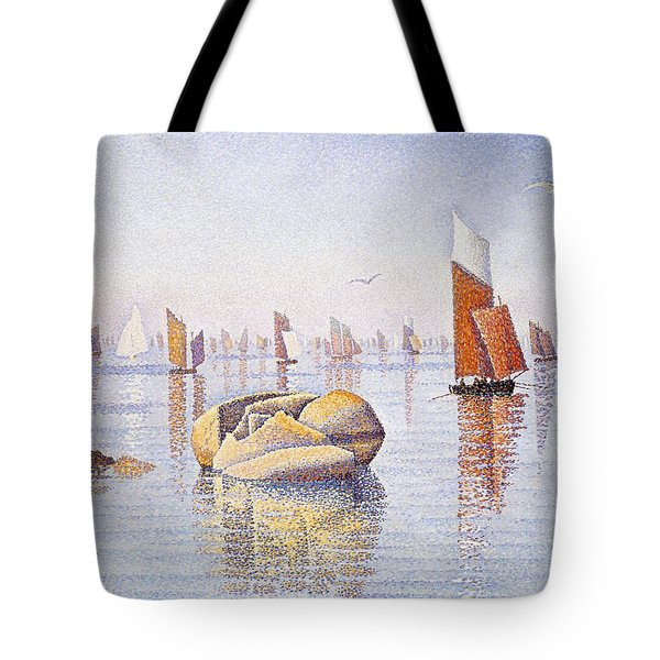 Concarneau   Quiet Morning Tote Bag by Paul Signac