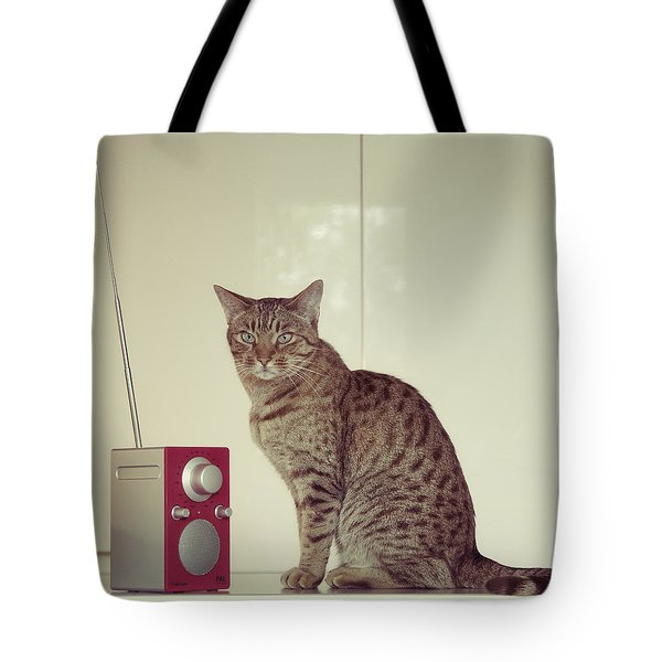 Concentrated Listener Tote Bag