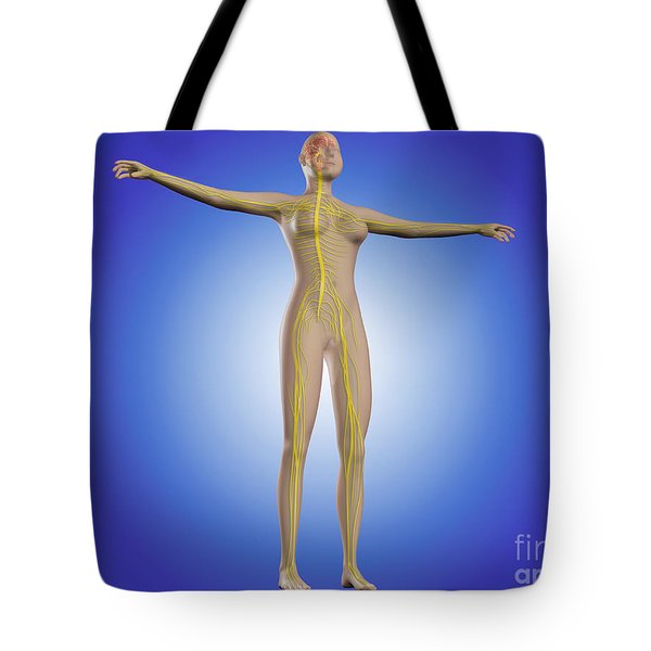 Conceptual Image Of Female Nervous Tote Bag