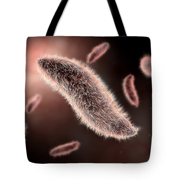 Conceptual Image Of Paramecium Tote Bag by Stocktrek Images