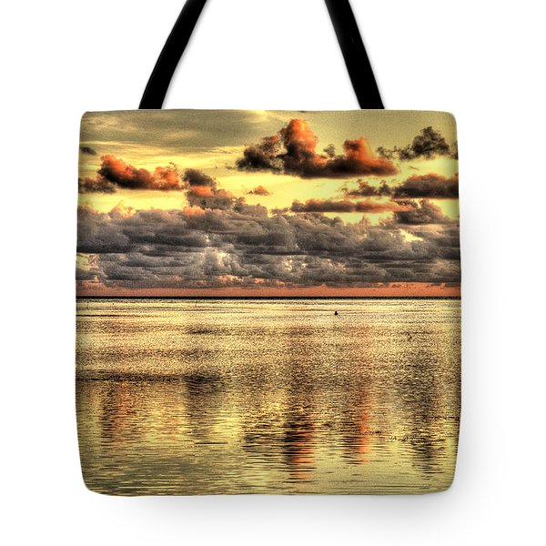 Tote Bag featuring the photograph Conch Key Bay Sunset by Julis Simo