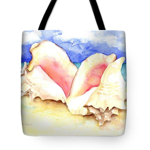 Conch Shells On Beach Tote Bag