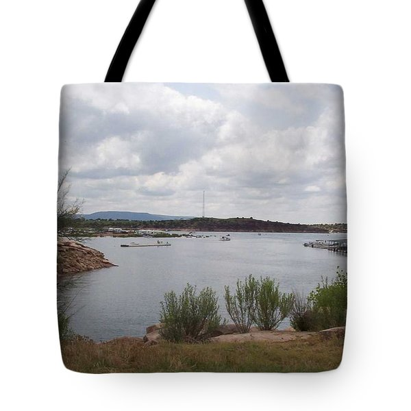 Conchas Dam Tote Bag by Sheri Keith