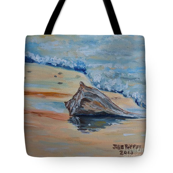 Conched Out Tote Bag by Julie Brugh Riffey