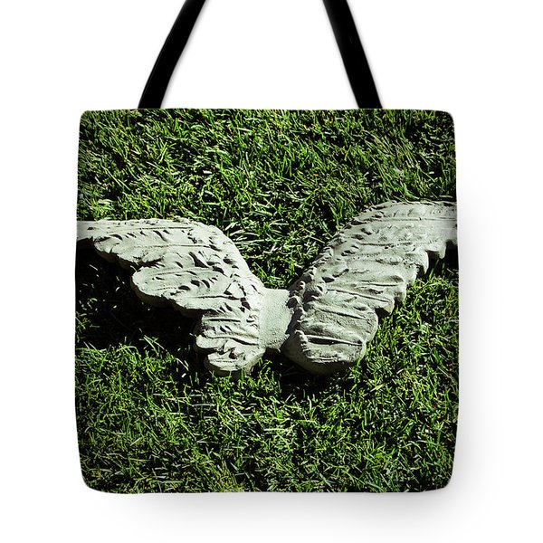 Concrete Angel Tote Bag by Holly Blunkall
