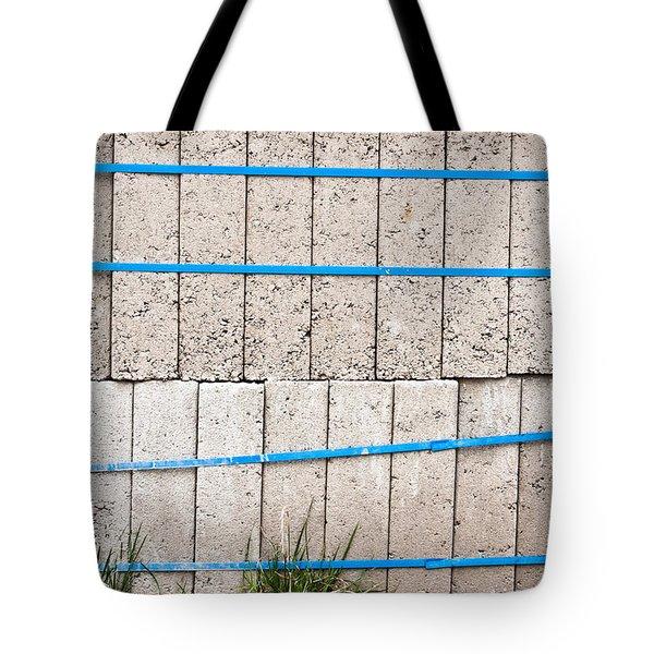 Concrete Blocks Tote Bag by Tom Gowanlock