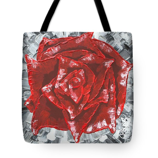 Concrete Rose  Tote Bag