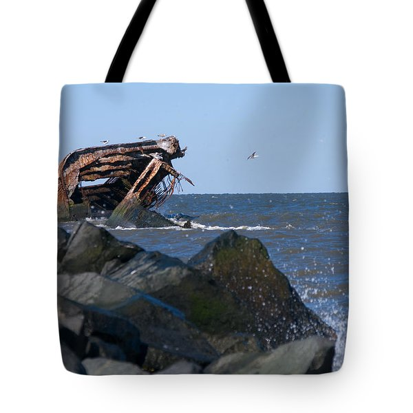 Tote Bag featuring the photograph Concrete Ship by Greg Graham