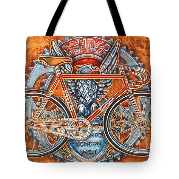 Tote Bag featuring the painting Condor Fixed by Mark Howard Jones