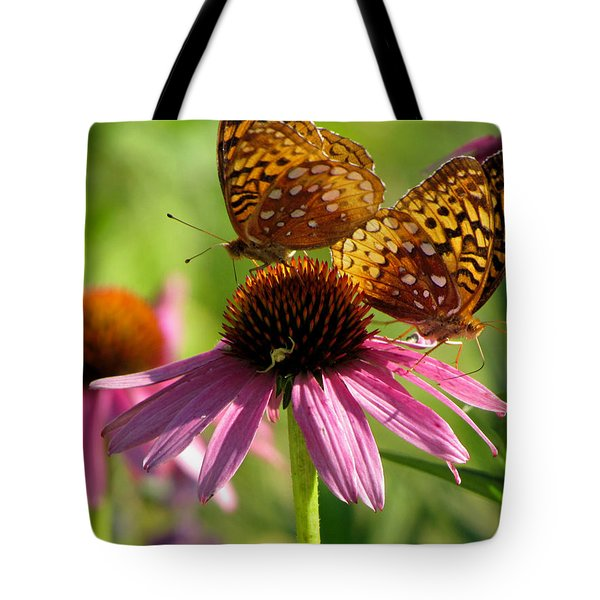 Coneflower Butterflies Tote Bag