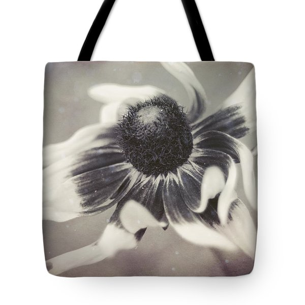 Coneflower In Monochrome Tote Bag