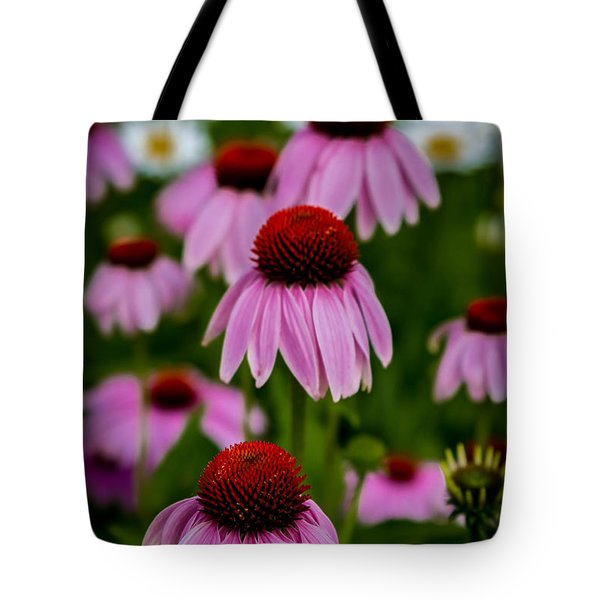 Coneflowers In Front Of Daisies Tote Bag