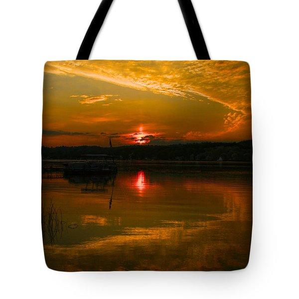 Conesus Sunrise Tote Bag by Richard Engelbrecht