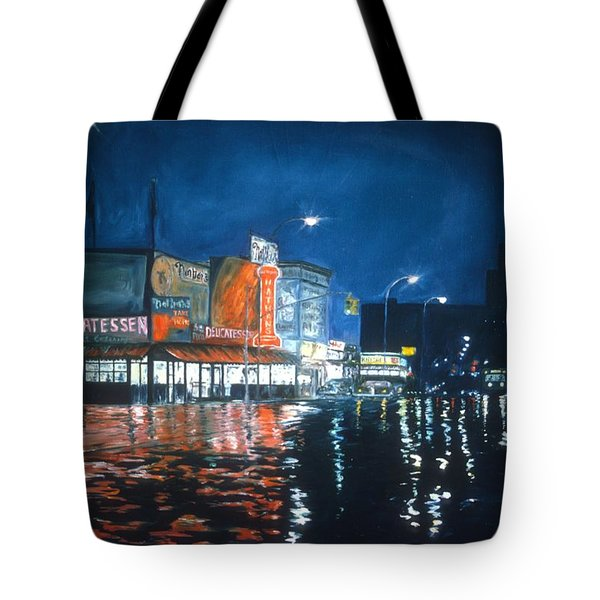 Poppy's Cafe, Greenwich Village, 1983  Tote Bag