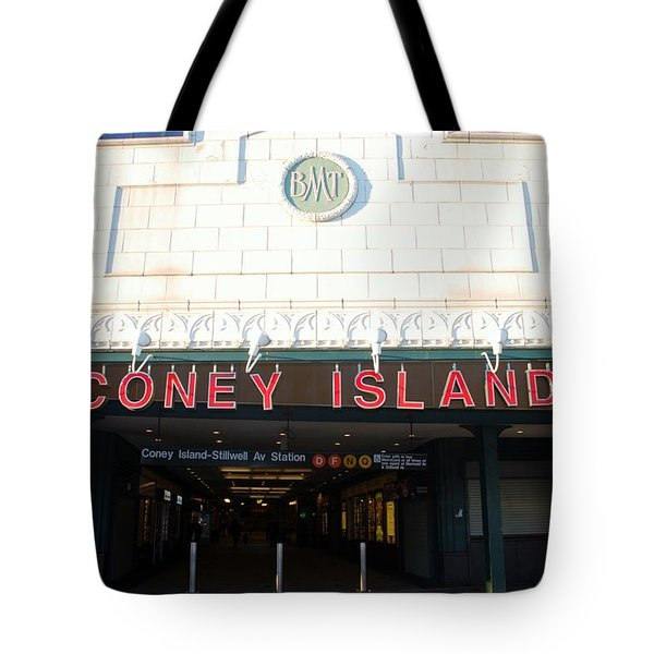 Coney Island Bmt Subway Station Tote Bag