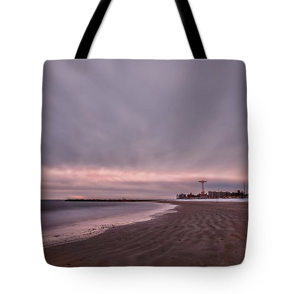 Coney Island Bound Tote Bag by Evelina Kremsdorf