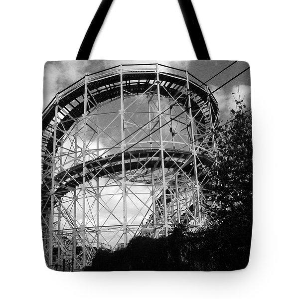 Coney Island Roller Coaster Tote Bag