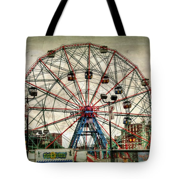 Coney Island Wonder Wheel  Tote Bag