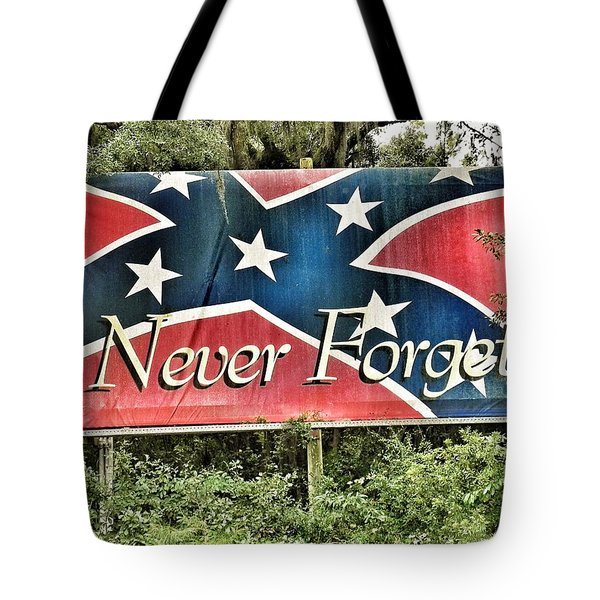 Confederate Flag In The Woods Tote Bag