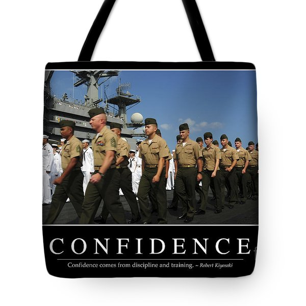 Confidence Inspirational Quote Tote Bag