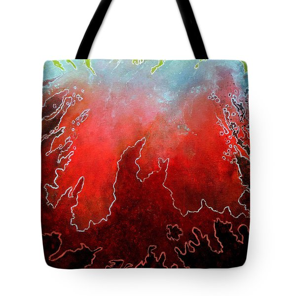 Tote Bag featuring the painting Conflicting Emotions by Jim Whalen
