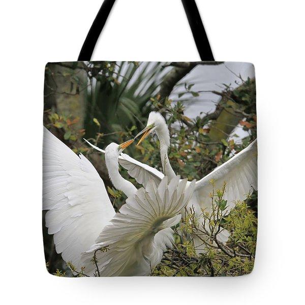 Confrontation Tote Bag