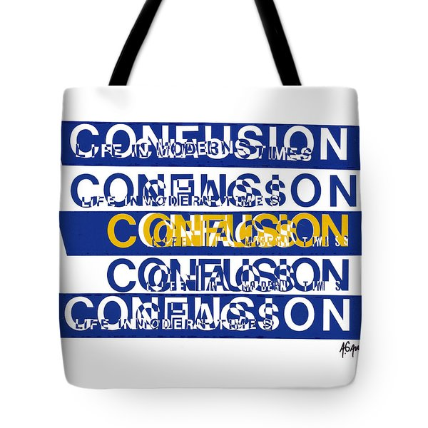 Confusion Tote Bag by Agustin Goba
