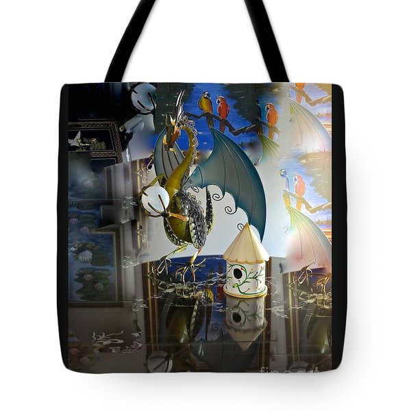 Conglomerate Or Camouflage Tote Bag by Phyllis Kaltenbach