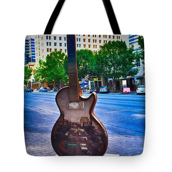 Congress Avenue Sixth String Tote Bag