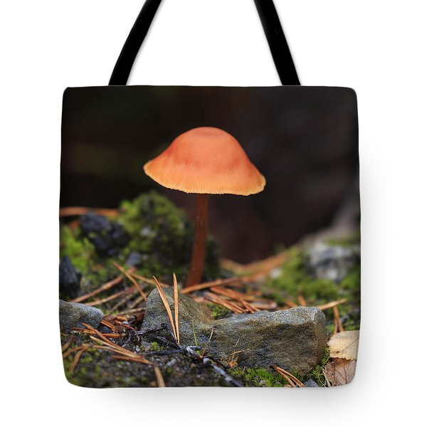 Conical Wax Cap Mushroom Tote Bag by Louise Heusinkveld