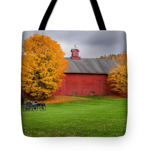 Connecticut Autumn Tote Bag by Bill Wakeley