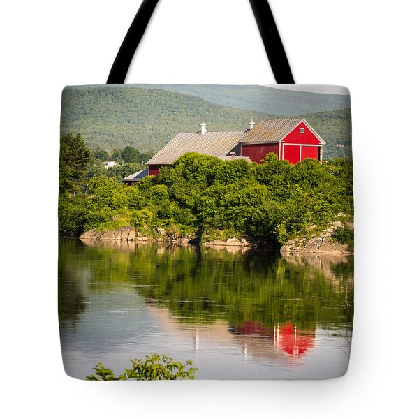 Connecticut River Farm Tote Bag by Edward Fielding