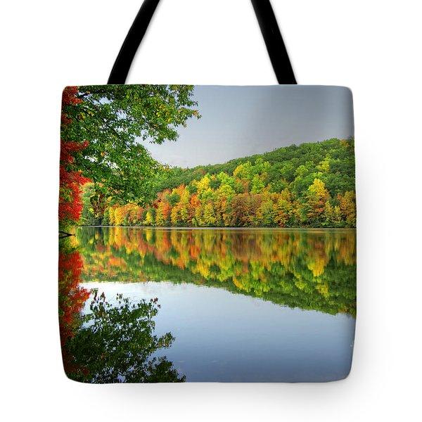 Connecticut River In Autumn Tote Bag