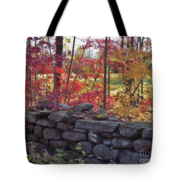 Connecticut Stone Walls Tote Bag