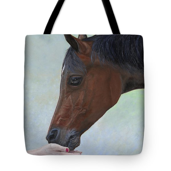 Tote Bag featuring the painting Connection by Cindy Lee Longhini