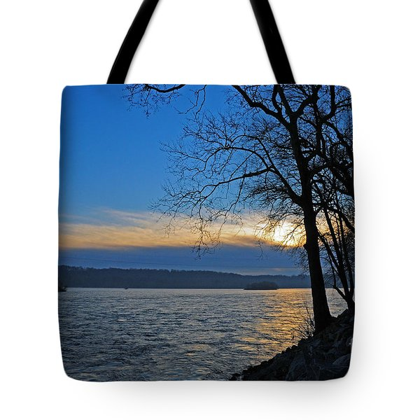 Tote Bag featuring the photograph Conowingo Sunrise by Olivia Hardwicke