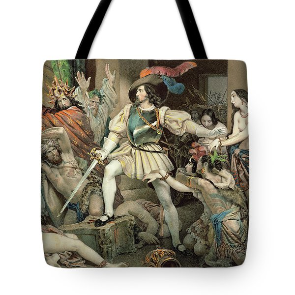 Conquest Of Mexico Hernando Cortes Tote Bag