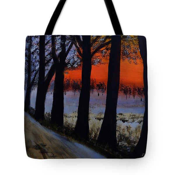 Conrad Road Sunrise Tote Bag