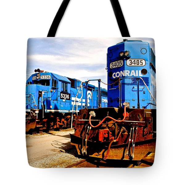 Conrail Choo Choo  Tote Bag by Frozen in Time Fine Art Photography