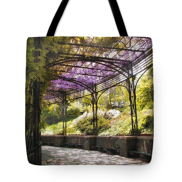 Conservatory Garden Wisteria Tote Bag