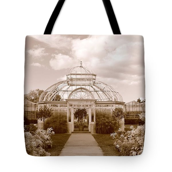 Conservatory- Sepia Tote Bag
