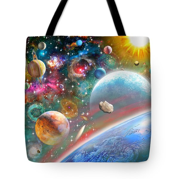 Constellations And Planets Tote Bag by Adrian Chesterman