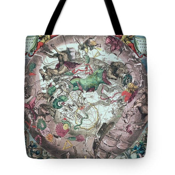 Constellations Of The Southern Hemisphere, From The Celestial Atlas, Or The Harmony Of The Universe Tote Bag by Andreas Cellarius