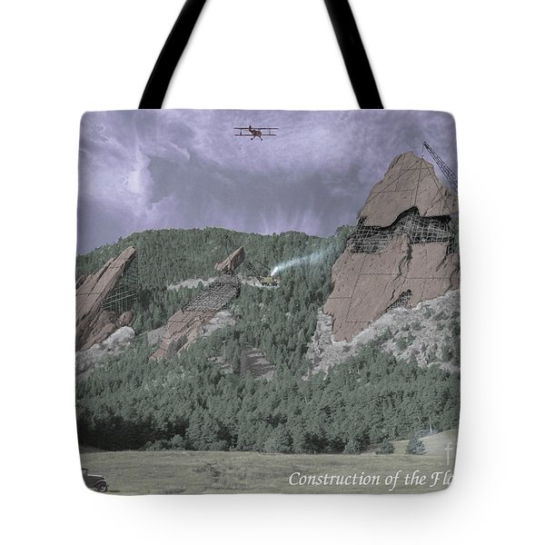Construction Of The Flatirons - 1931 Tote Bag