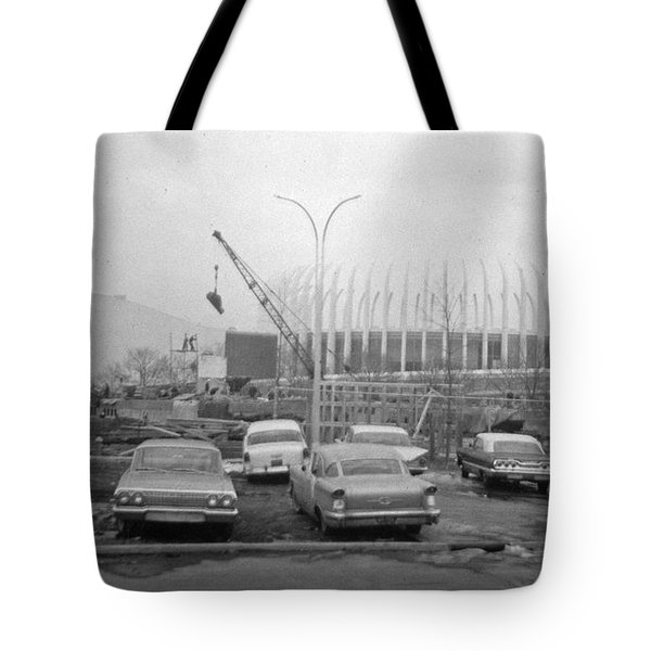 Construction Of The Ford Rotunda Tote Bag