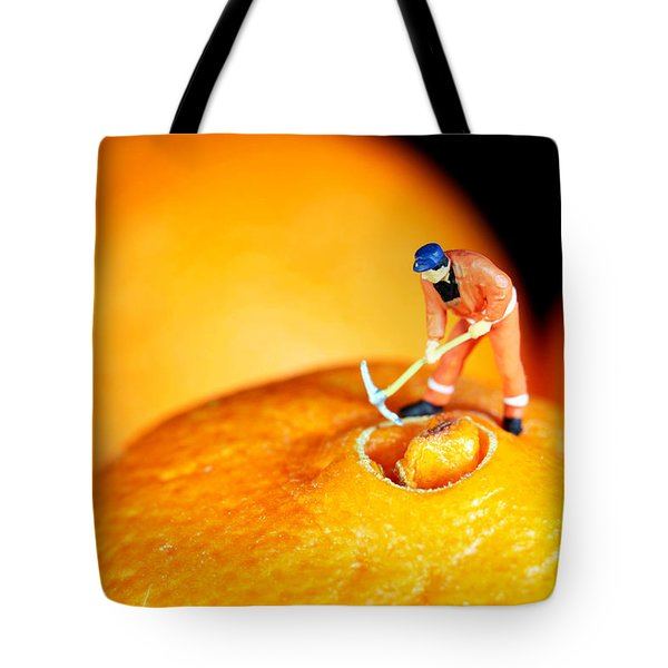 Construction On Oranges Tote Bag by Paul Ge