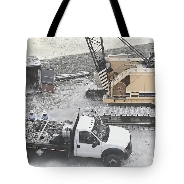 Construction Site Tote Bag by Rudy Umans
